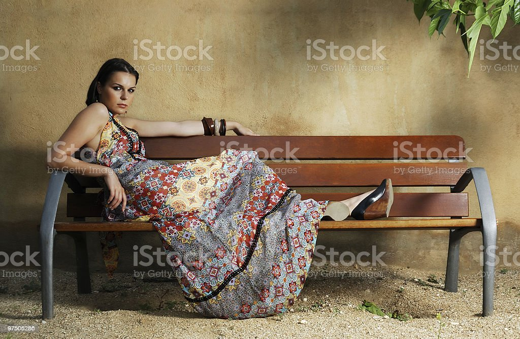 Long dress series royalty-free stock photo