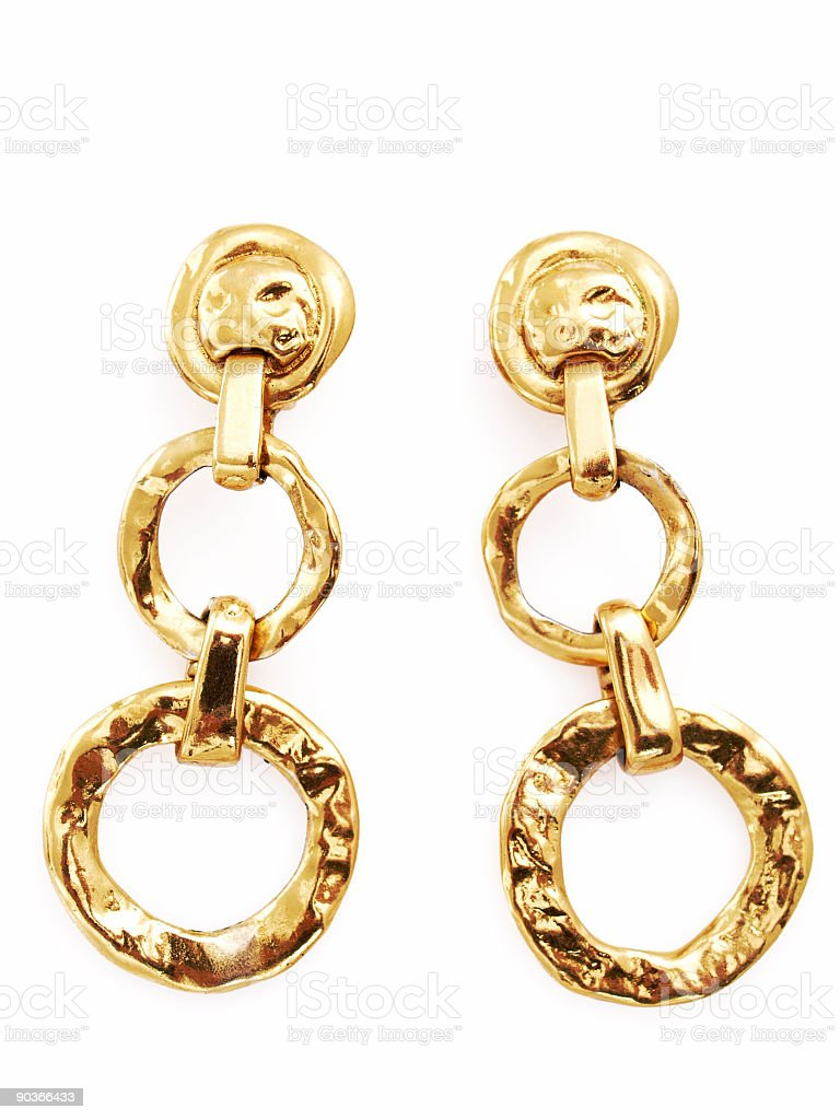 Long Earrings stock photo