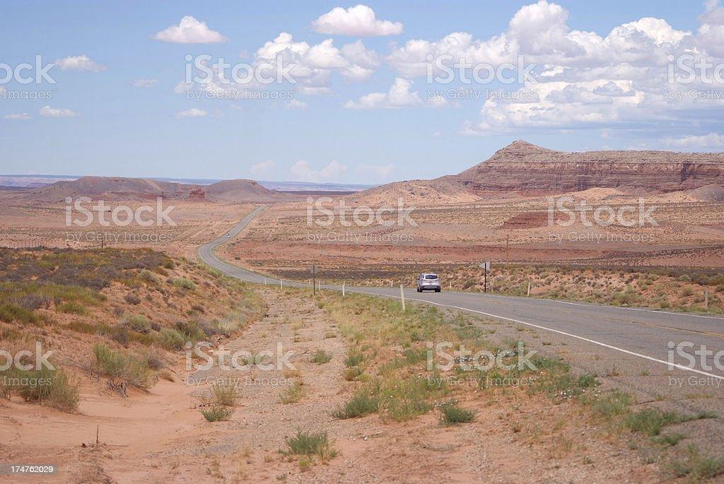 Long empty road royalty-free stock photo