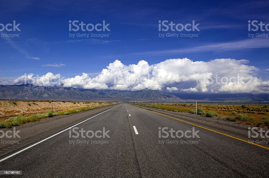Long empty road royalty-free stock photo