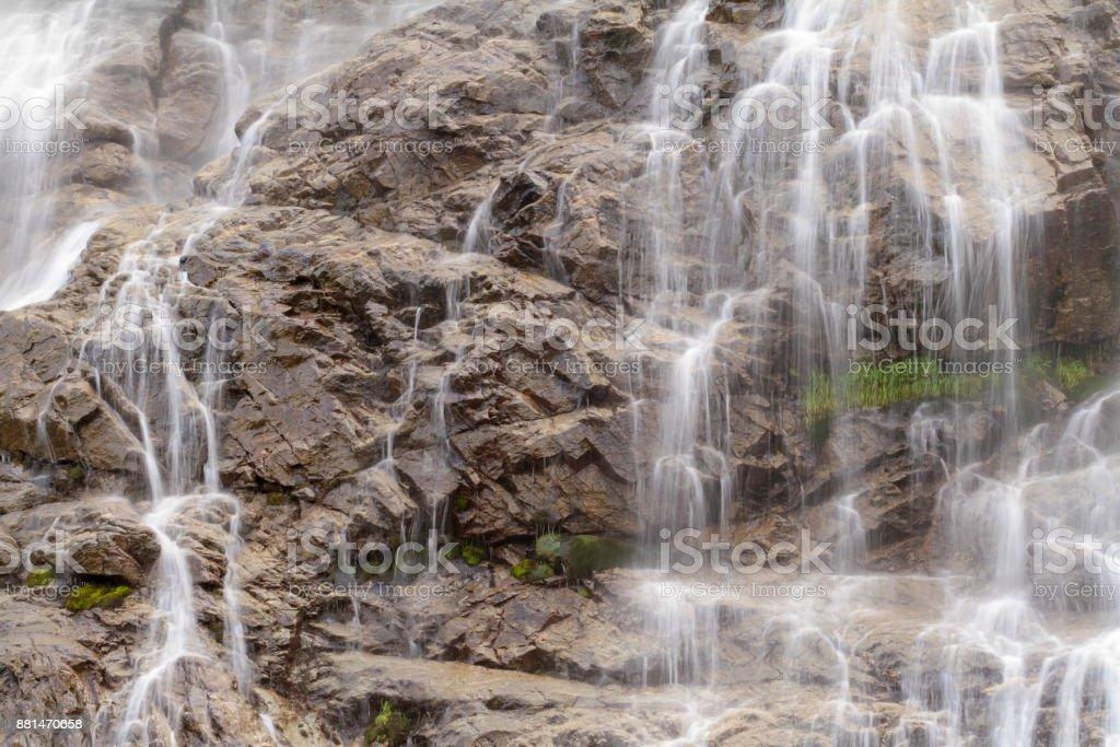 long exposure at waterfall stock photo