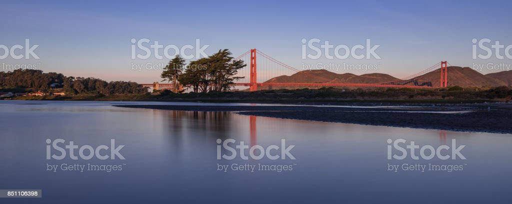 A Long Exposure from Crissy Field Lagoon stock photo