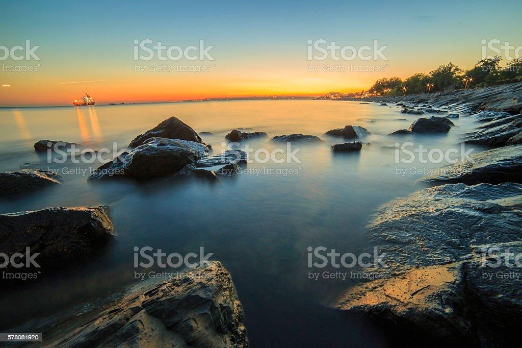 Long Exposure Horizon view stock photo