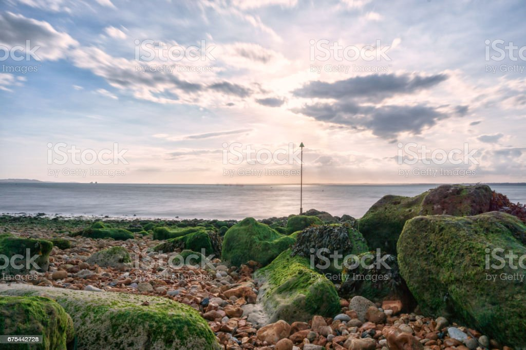 Long exposure in Gurnard, Isle of Wight - (United Kingdom) stock photo