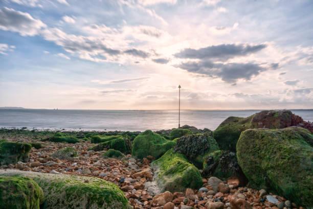 Long exposure in Gurnard, Isle of Wight - (United Kingdom) stock photo