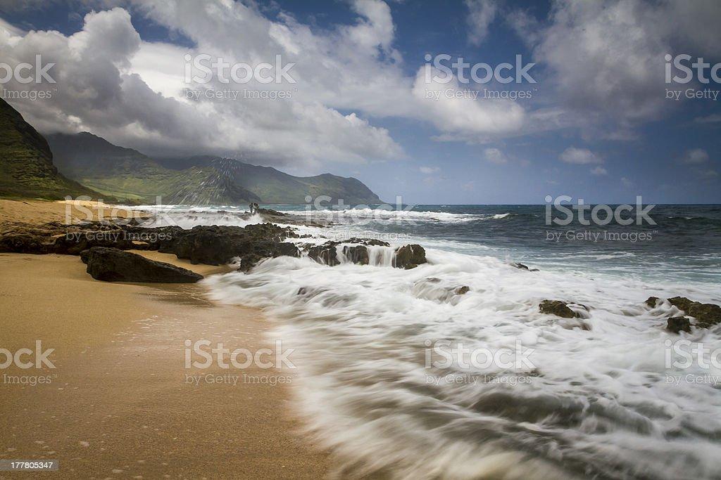 Long exposure landscape, Oahu, Hawaii royalty-free stock photo