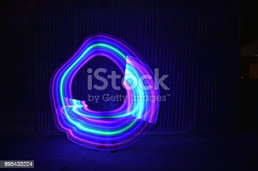 Long exposure light painting