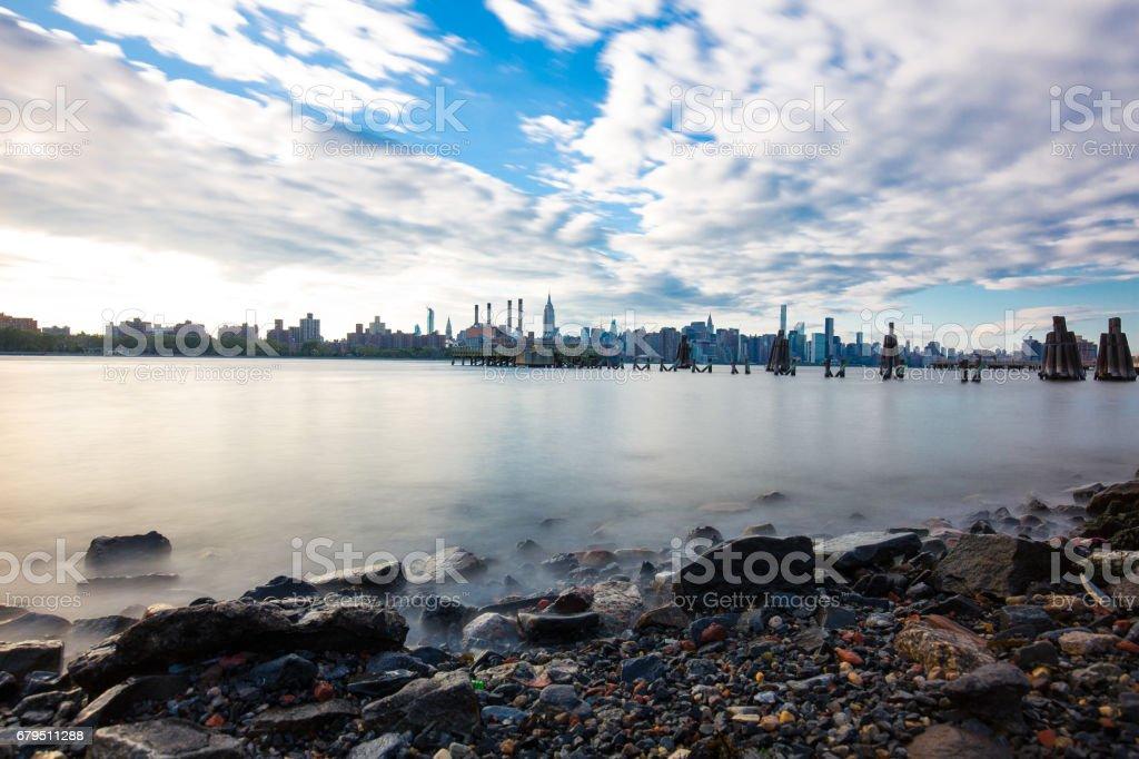 Long Exposure Manhattan Skyline royalty-free stock photo
