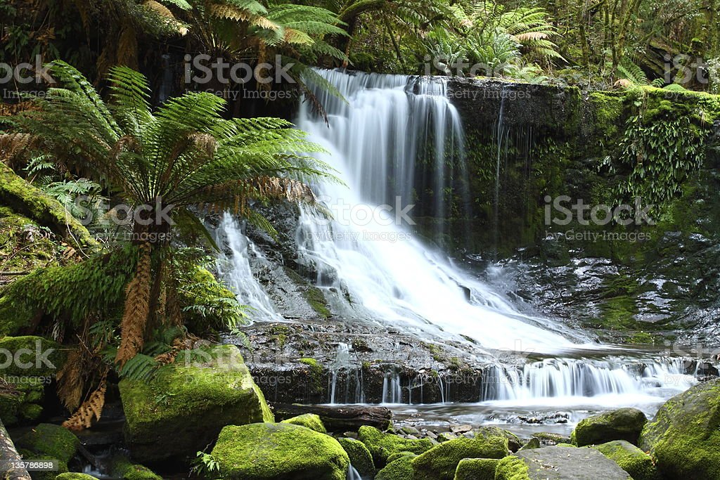 Long exposure of Australia's Russell Falls stock photo