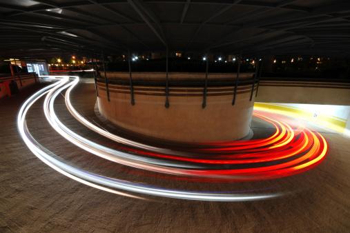 824108398 istock photo Long exposure of Car's Light  - XLarge 155369987
