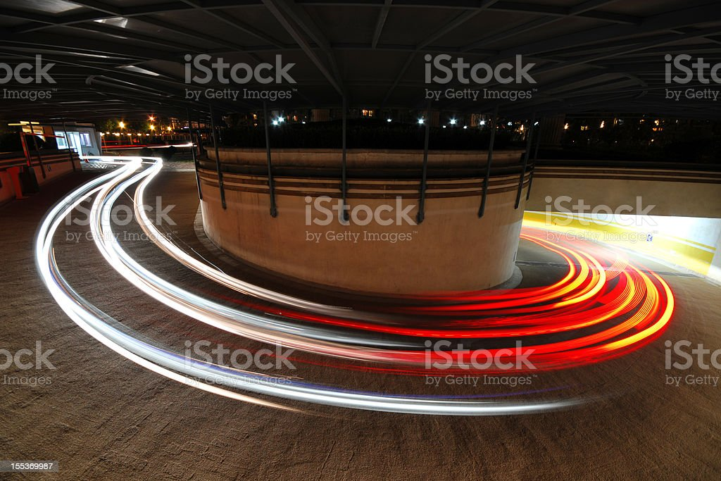 Long exposure of Car's Light  - XLarge stock photo