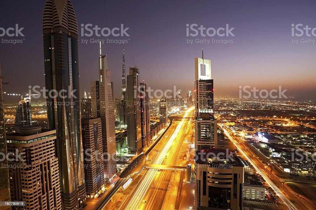 long exposure of city royalty-free stock photo