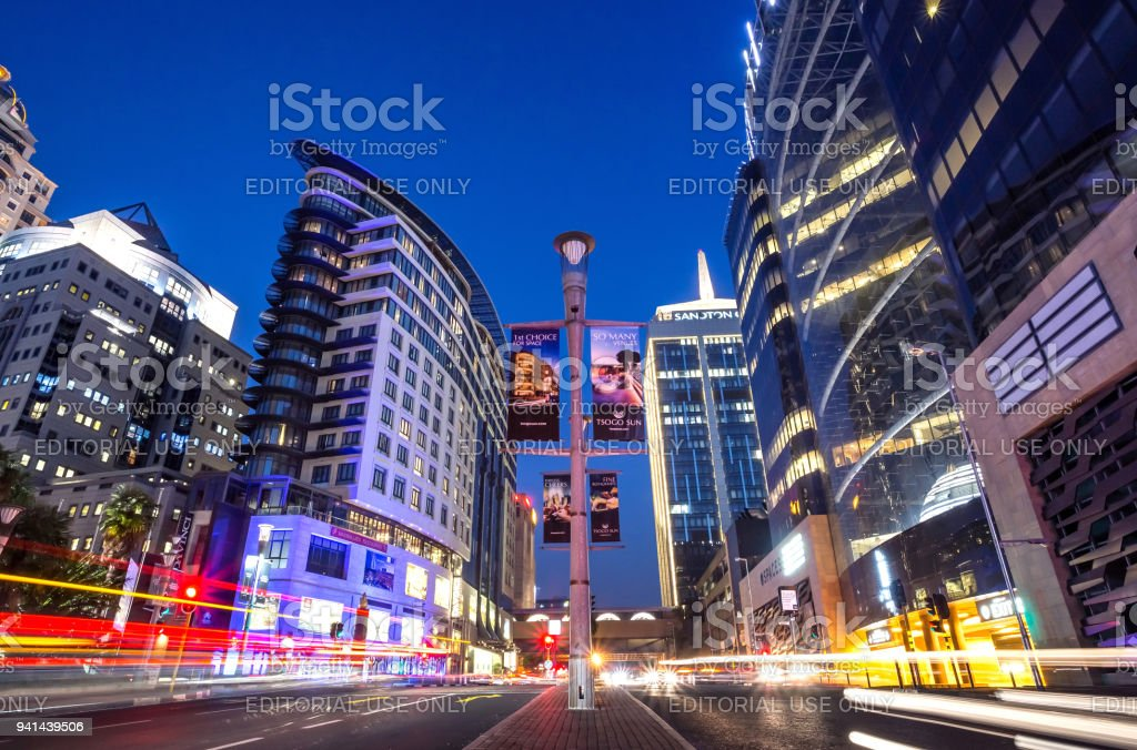 Long exposure of city street. royalty-free stock photo