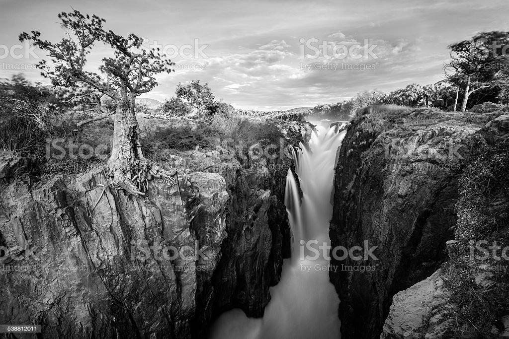 Long exposure of Epupa Falls Namibia stock photo