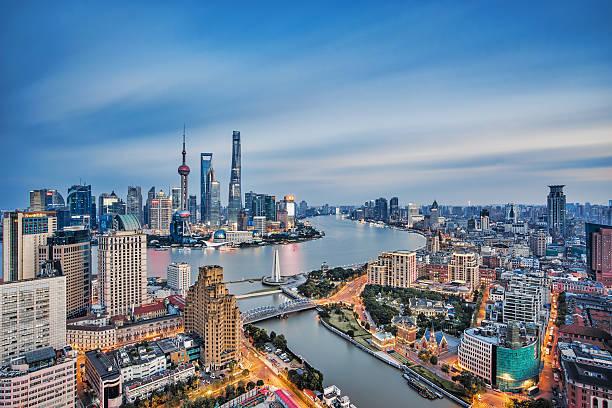 Long exposure of Shanghai,China stock photo
