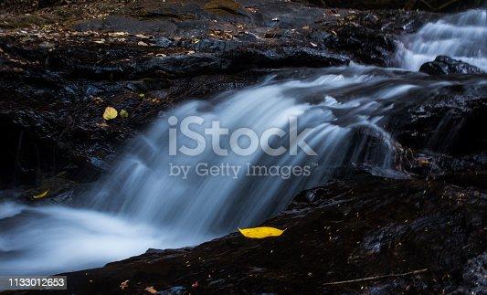 Long Exposure Of Small Waterfall