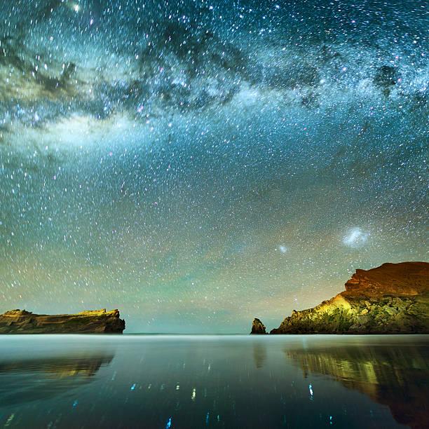 Long Exposure of Stars stock photo