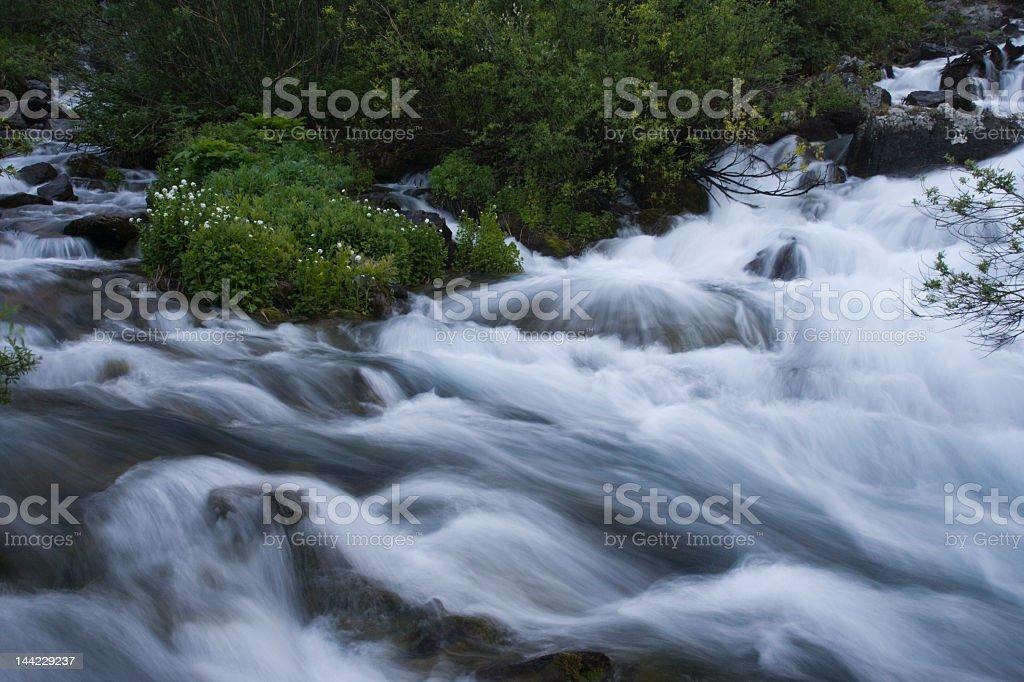 Long exposure of stream stock photo
