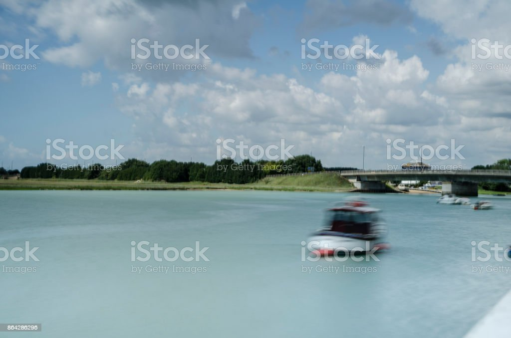 Long exposure on River Adur, Shoreham-by-sea royalty-free stock photo