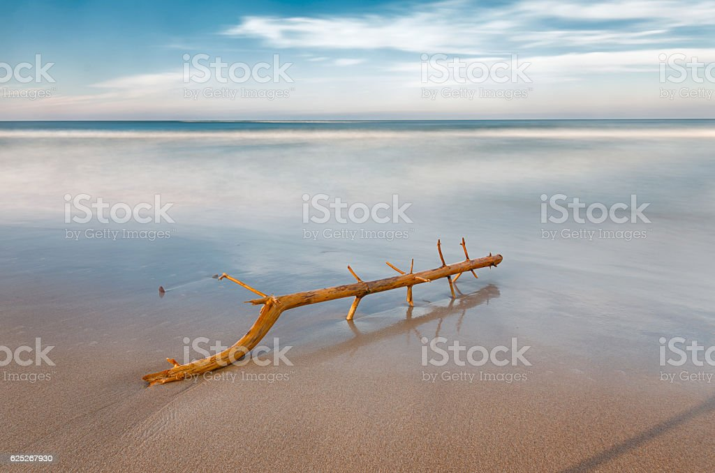 long exposure on the beach stock photo