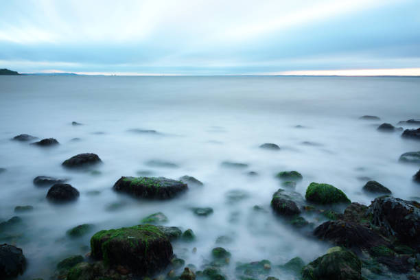 Long exposure on the sea - Isle of Wight stock photo
