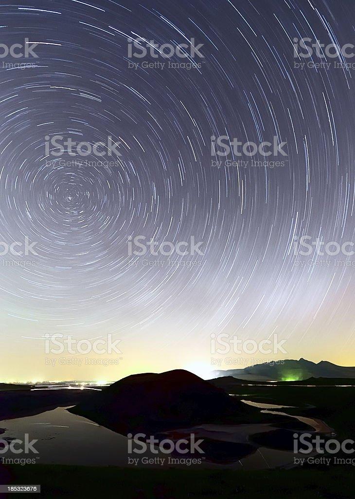 Long exposure photo sky at night. royalty-free stock photo