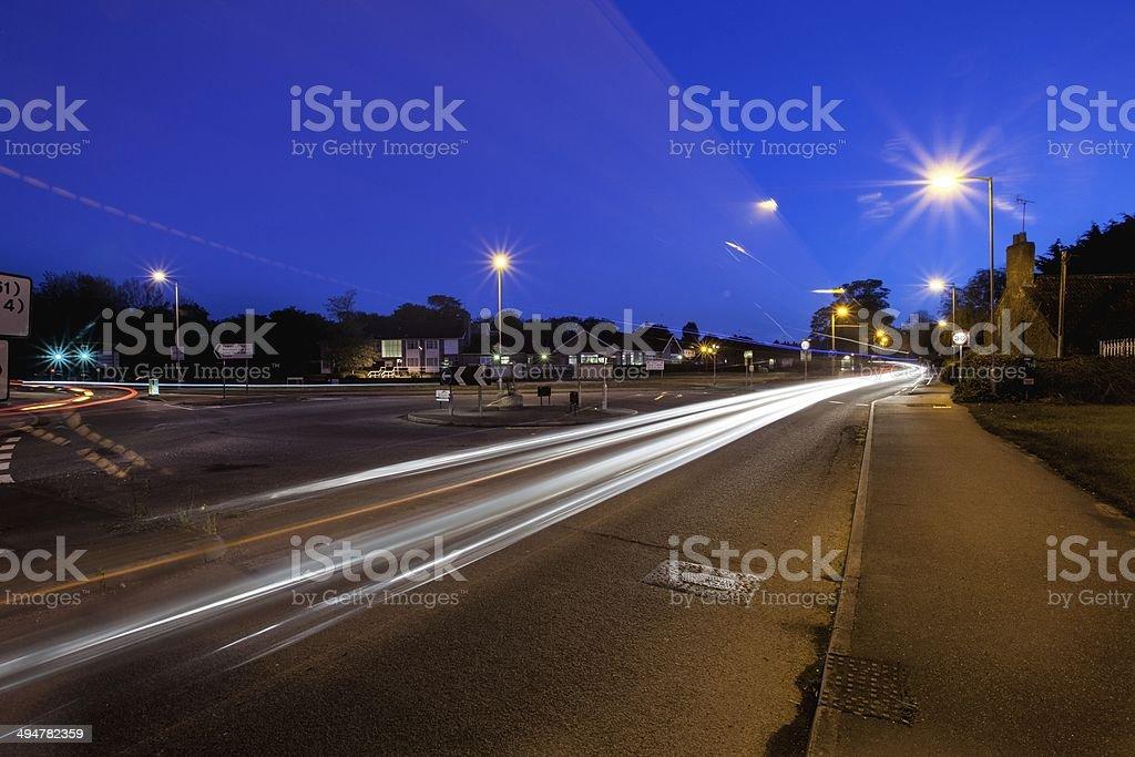 Long exposure Roundabout stock photo