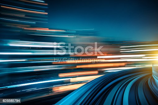 istock Long exposure shot from a moving train 625585794