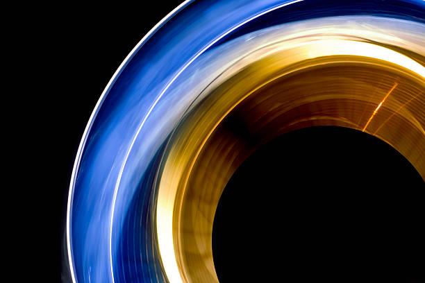 lumières de spinning - convexe photos et images de collection