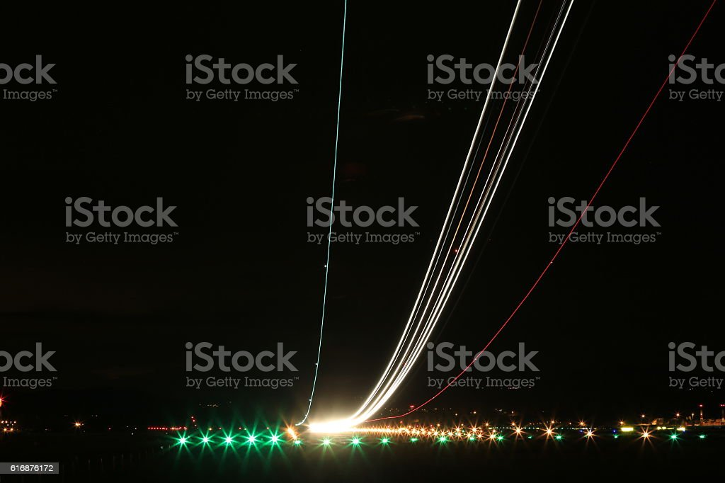 Long exposure take off - foto de stock