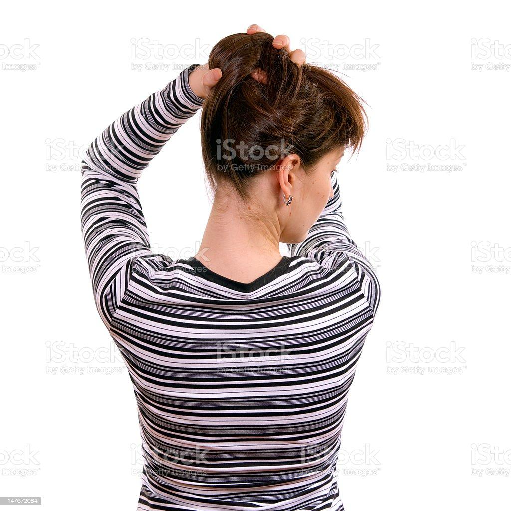 Long Female Hair royalty-free stock photo