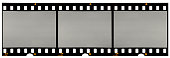 real long 35mm film strip or material on white