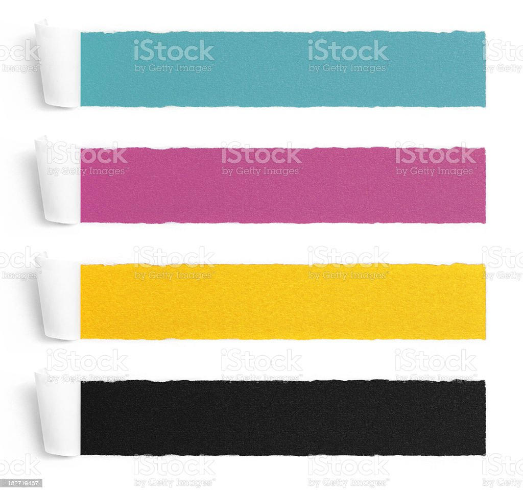 Long Frames Torn Paper Collection royalty-free stock photo