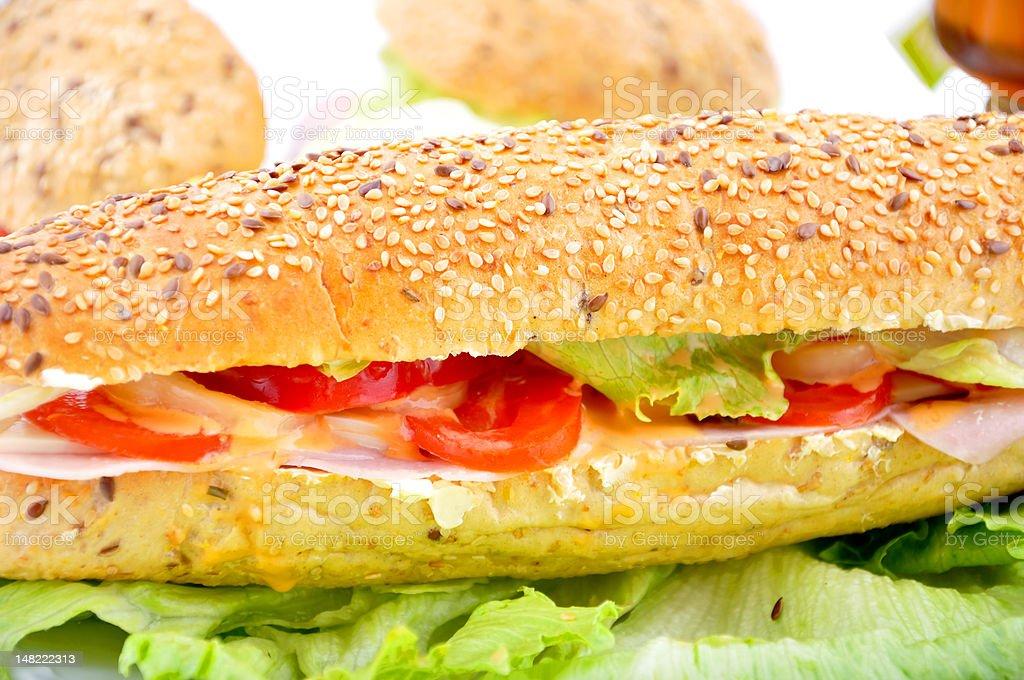 Long fresch sadwich royalty-free stock photo