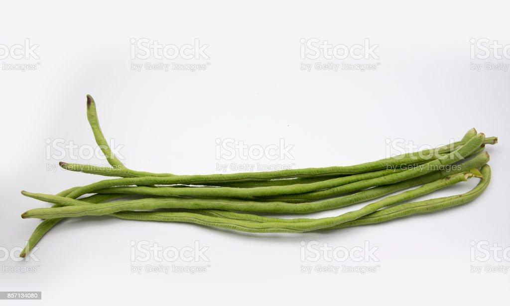 long green bean stock photo