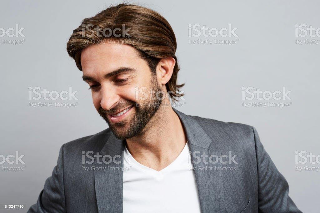 Lange Haare Und Bart Kerl Stock Fotografie Und Mehr Bilder Von 30 34
