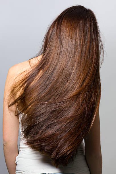 cabelos longos de trás - longo - fotografias e filmes do acervo