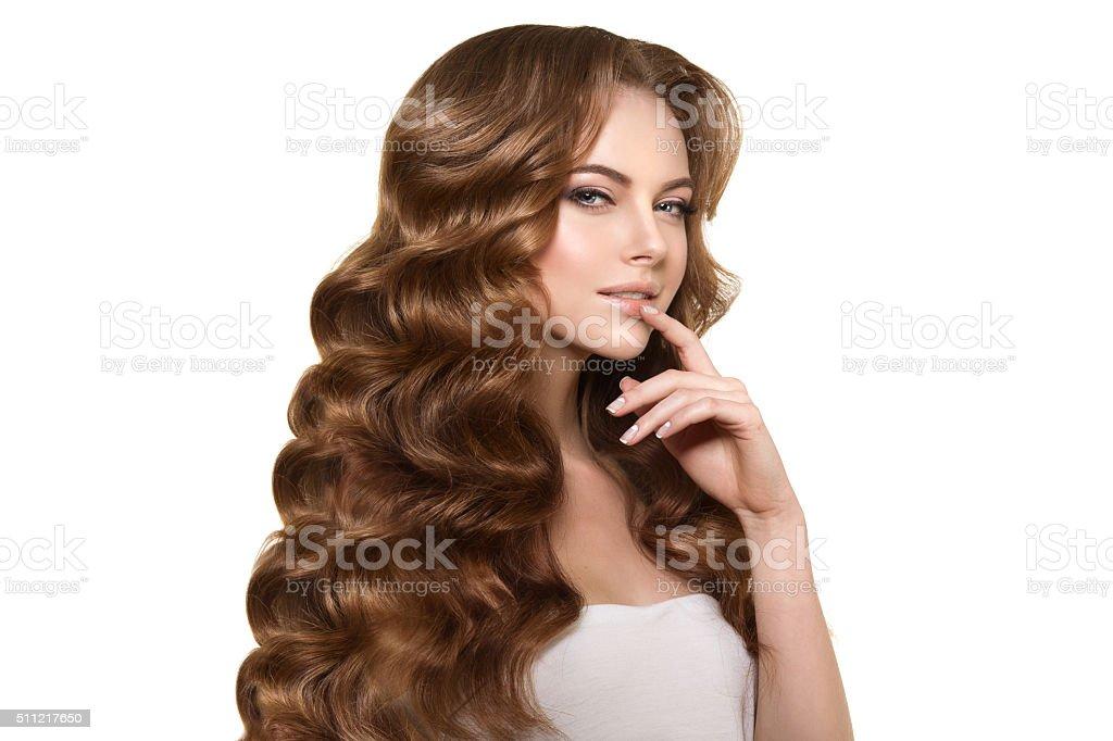 Długie Włosy Fale Loki Fryzura Salon Fryzjerski Updo Moda Tryb