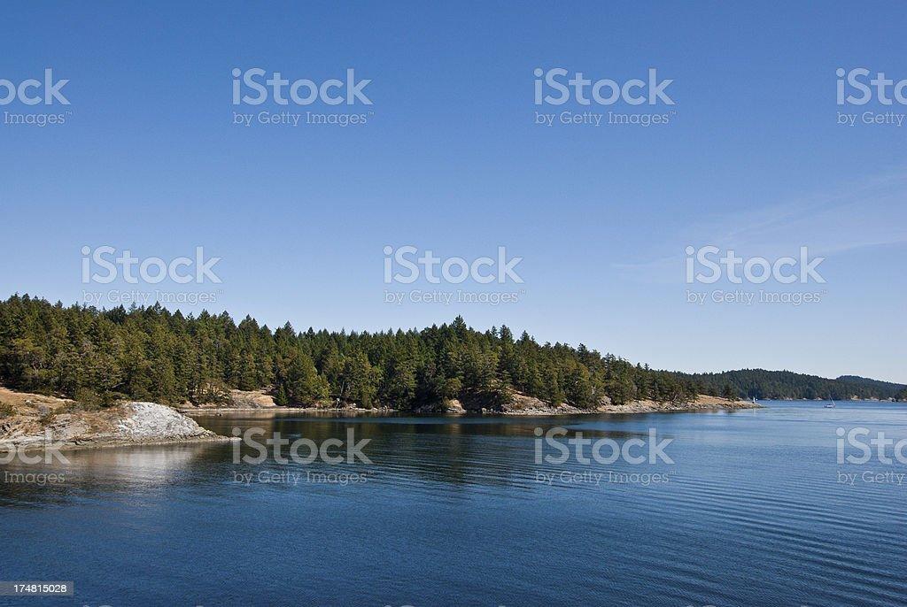 Long Harbor on a Sunny Day royalty-free stock photo