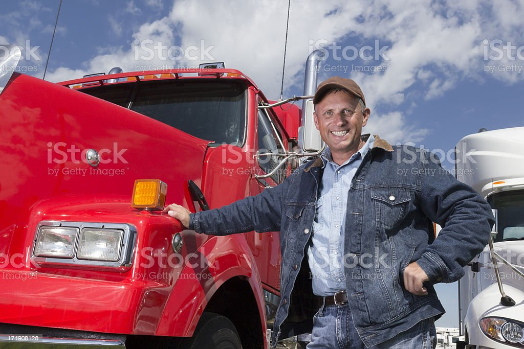 Long Haul Driver royalty-free stock photo