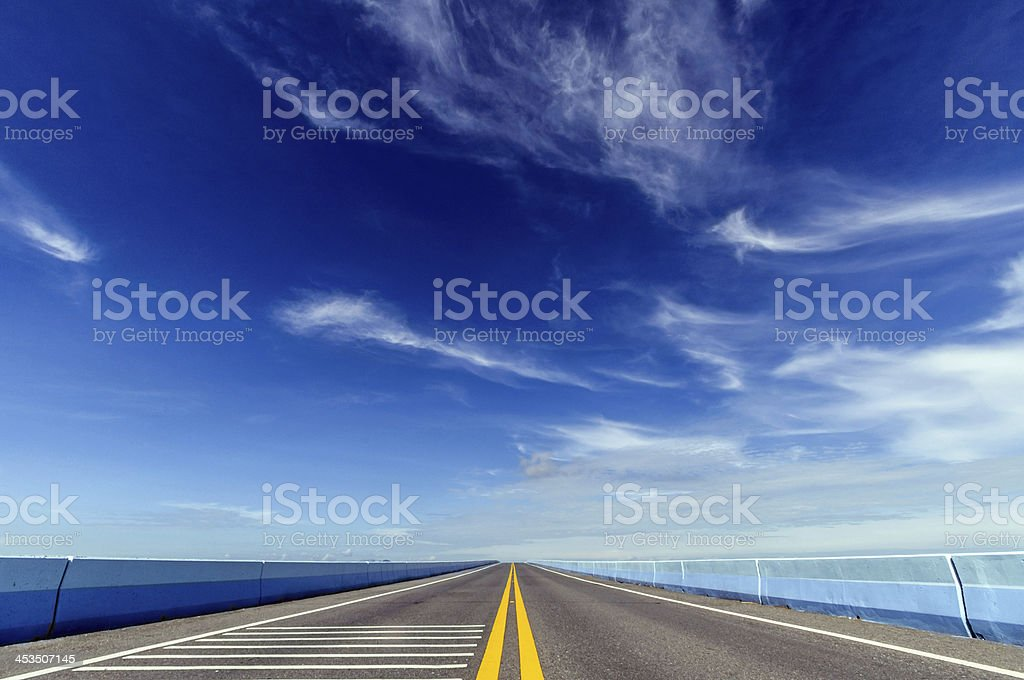 Long Highway royalty-free stock photo