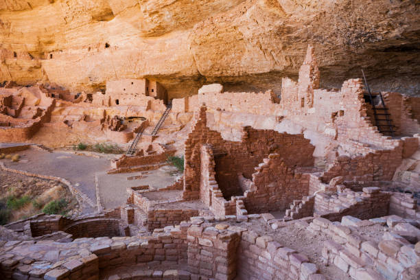 Long House at Mesa Verde National Park in Colorado, United States stock photo