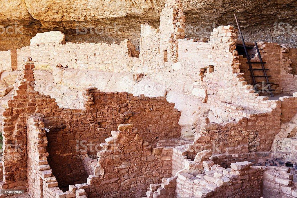 Long House Ruins - Mesa Verde National Park, Colorado stock photo