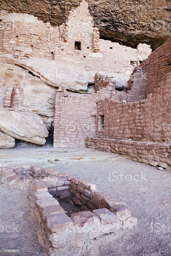 Long House Ruins - Mesa Verde National Park, Colorado royalty-free stock photo
