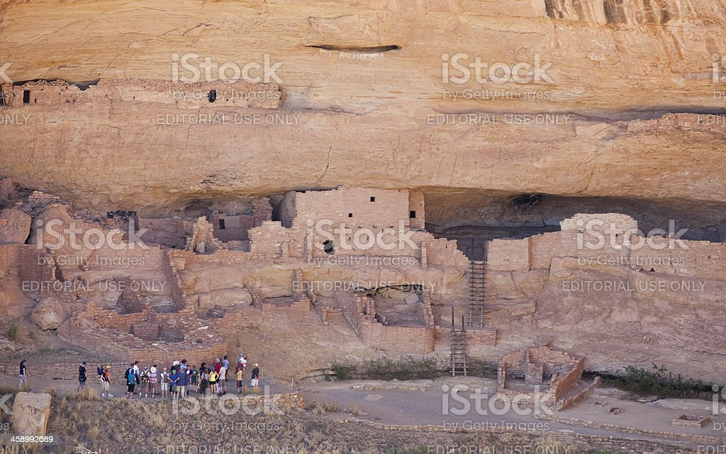 Long House Ruins Tour at Mesa Verde National Park, Colorado stock photo
