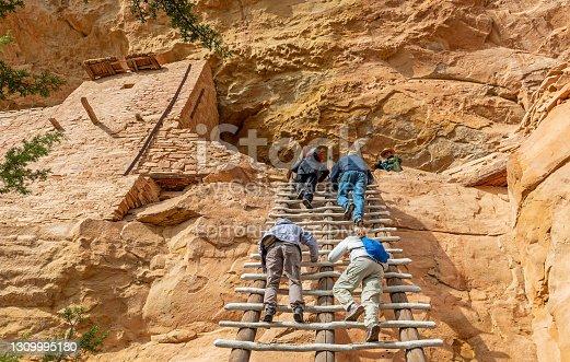 istock Long House Tourists, Mesa Verde national park 1309995180