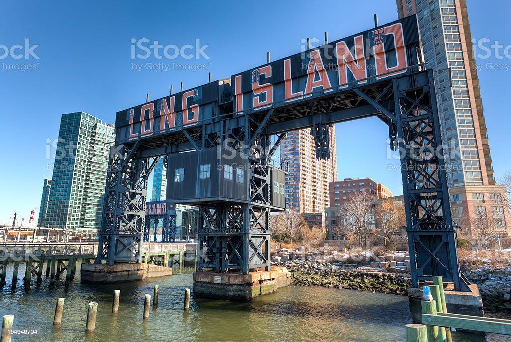 Long Island city pier, New York stock photo