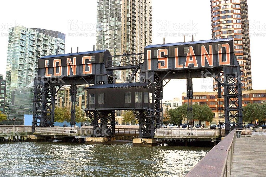 Long Island city pier, NY stock photo