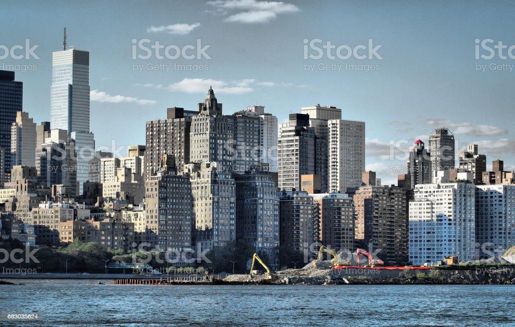 Long Island City skyline foto de stock royalty-free