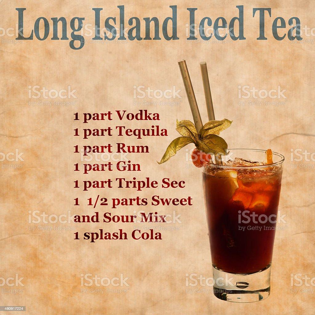 Long Island Iced Tea Rezept Stockfoto Und Mehr Bilder Von 2015 Istock